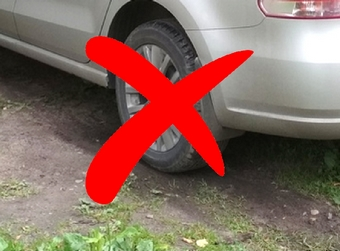 300 000 rubles fine for parking on lawns